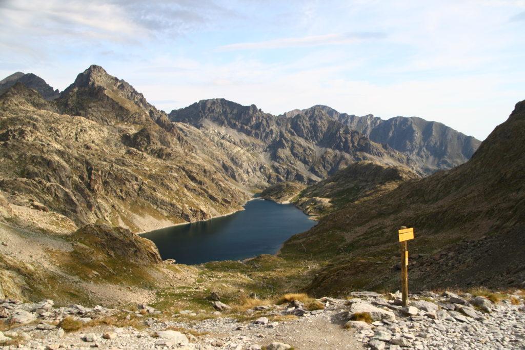 Baisse de la Valmasque - Panorama exceptionnel sur le lac du Basto à la Vallée des Merveilles