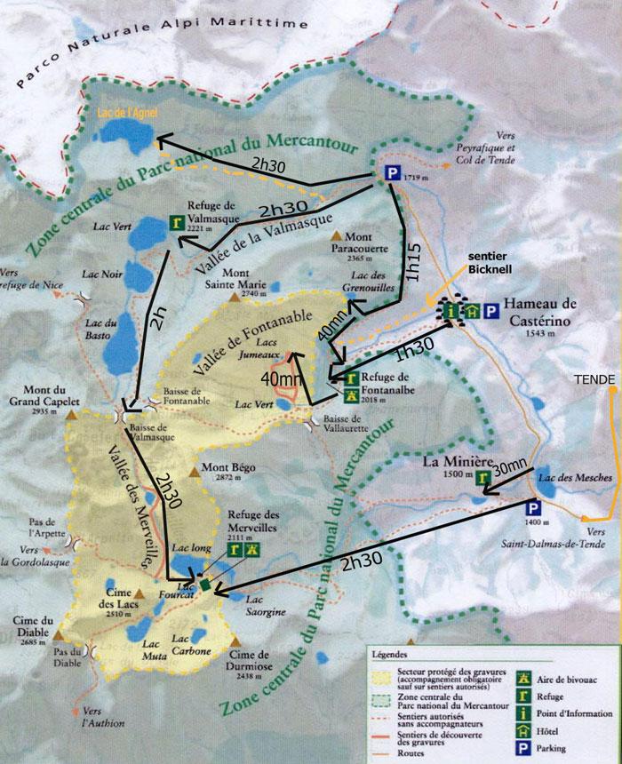 Plan de la vallée des merveilles