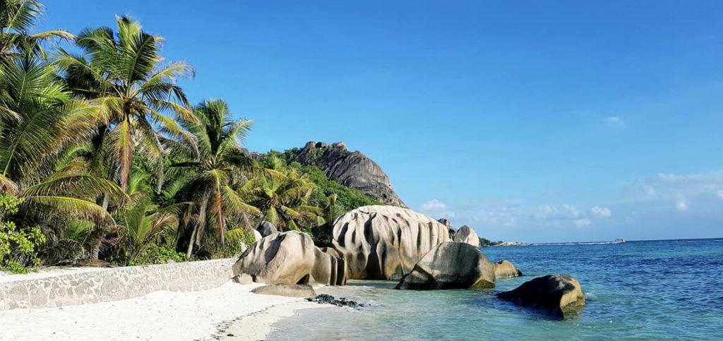 La plage Anse Source d'Argent. La plage la plus photographiée des Seychelles